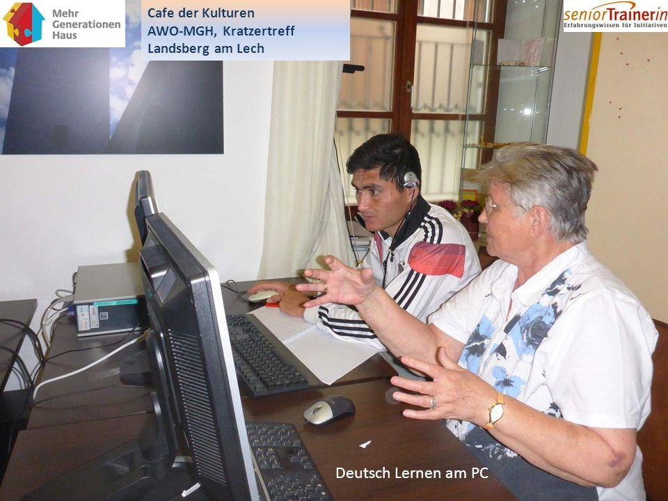 Deutsch Lernen am PC Cafe der Kulturen AWO-MGH, Kratzertreff Landsberg am Lech