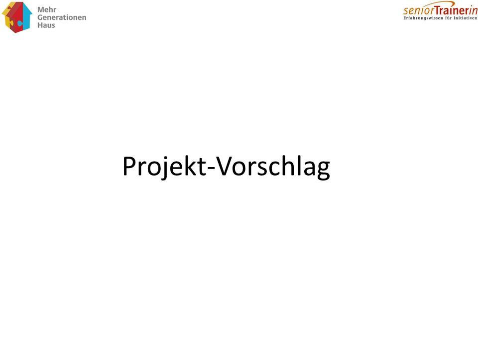 Projekt-Vorschlag