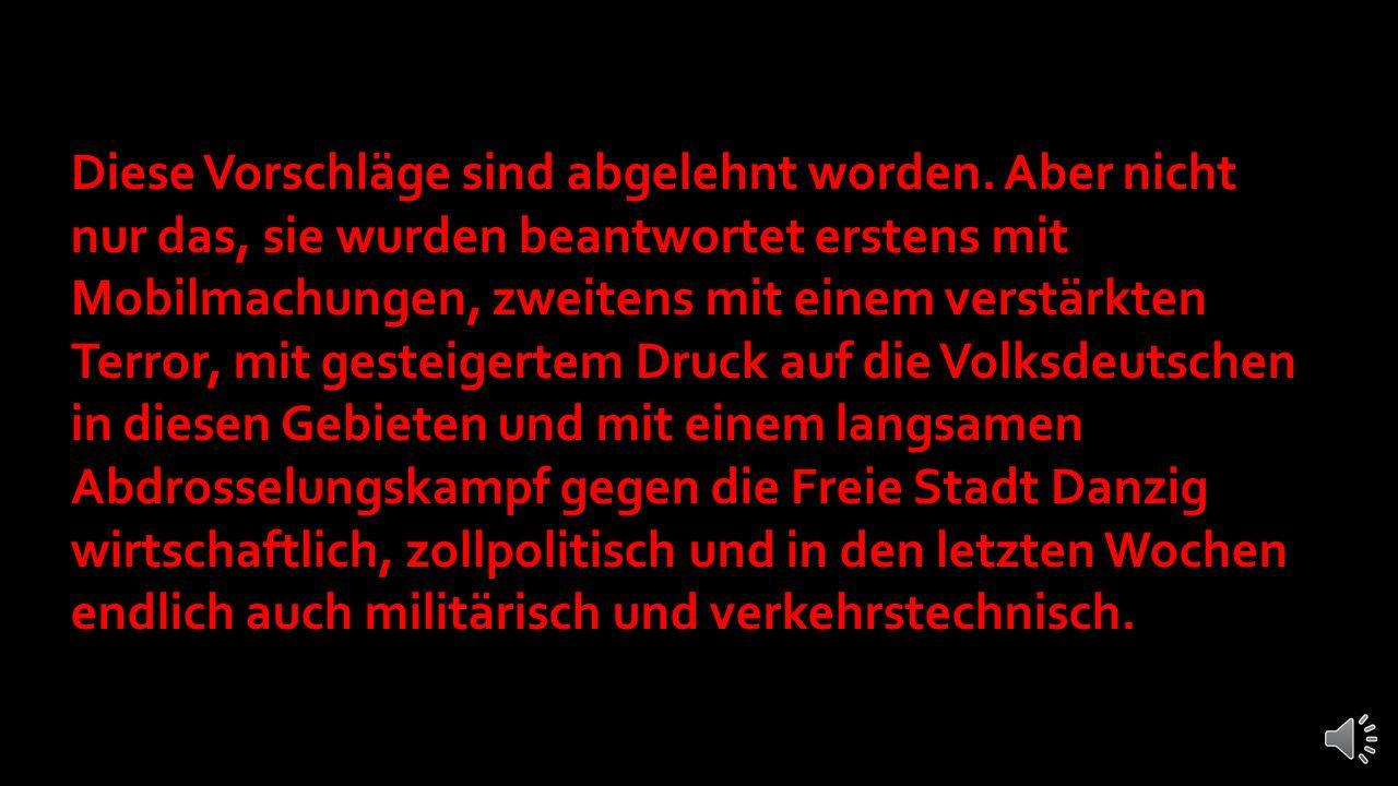 … Ich habe dann allerdings endlich die deutschen Vorschläge formulieren lassen.