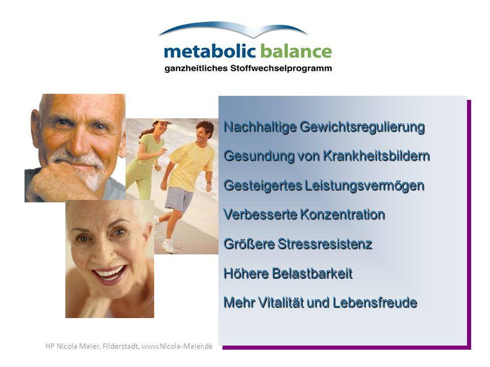 Nachhaltige Gewichtsregulierung Gesundung von Krankheitsbildern Gesteigertes Leistungsvermögen Verbesserte Konzentration Größere Stressresistenz Höher