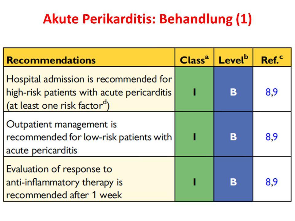 Akute Perikarditis: Behandlung (1)
