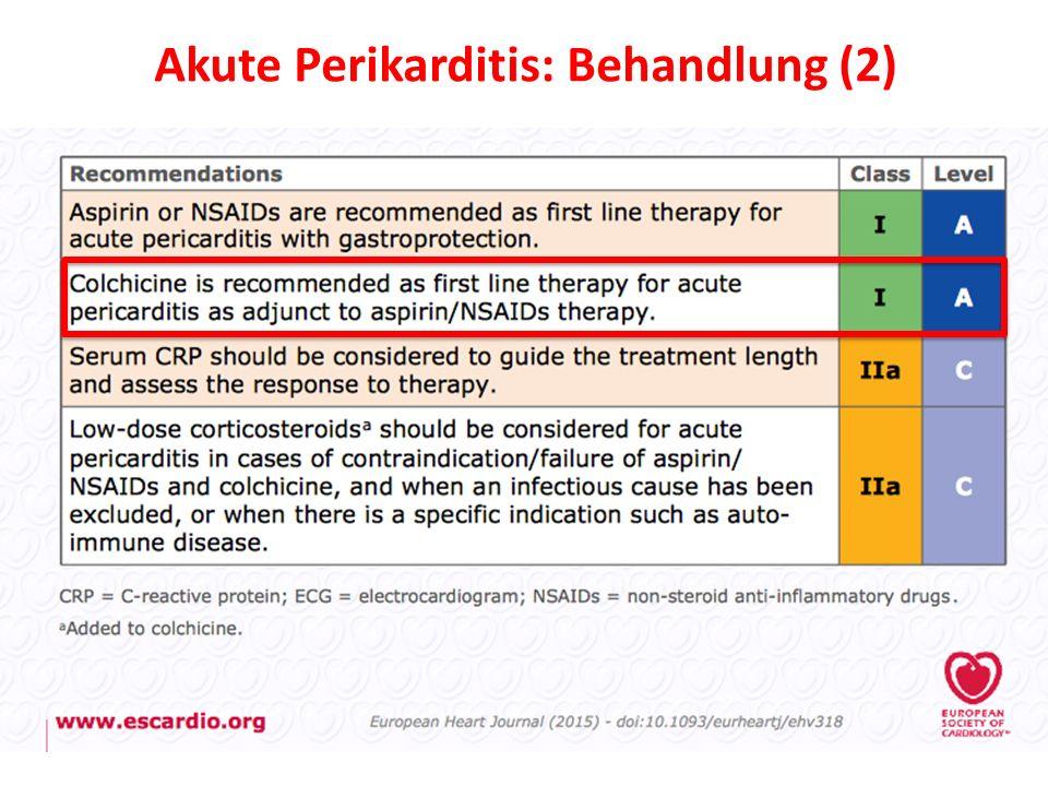 Akute Perikarditis: Behandlung (2)