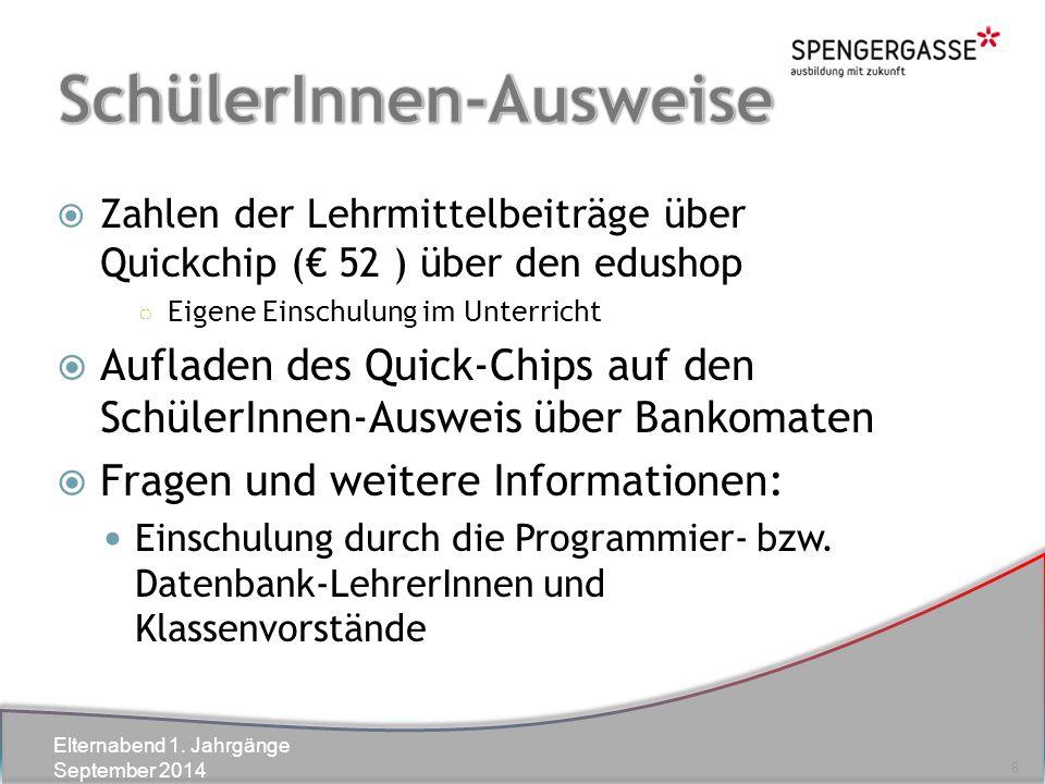 Elternabend 1.Jahrgänge September 2014  Zur Vorlage bei Behörden, etc.