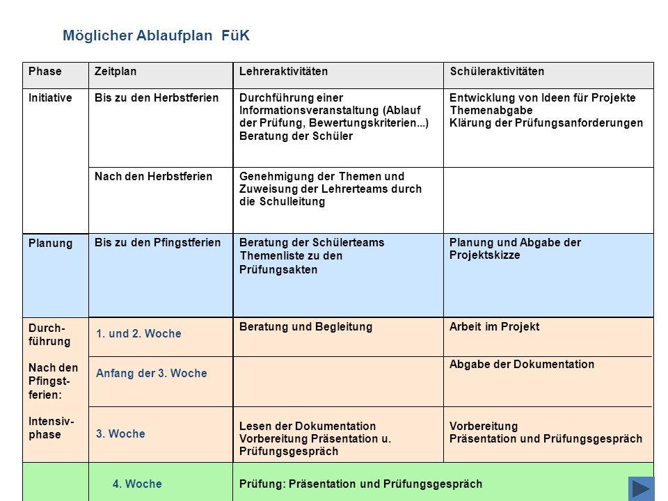Initiative SchüleraktivitätenZeitplanPhase Planung Planung und Abgabe der Projektskizze Bis zu den PfingstferienBeratung der Schülerteams Themenliste