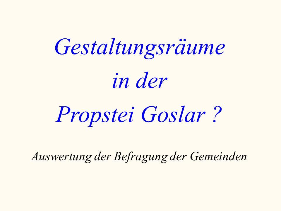 Gestaltungsräume in der Propstei Goslar ? Auswertung der Befragung der Gemeinden