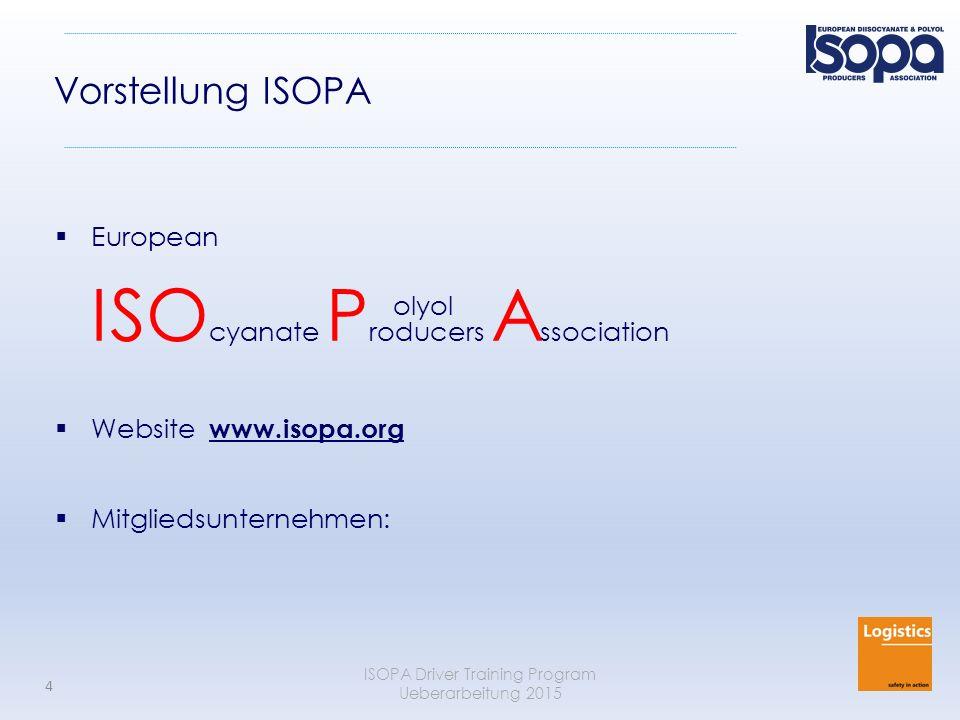 ISOPA Driver Training Program Ueberarbeitung 2015 25 Umgang mit Leckagen (durch Notfall Hilfsdienste) Grundsätzlich PSA benutzen !.