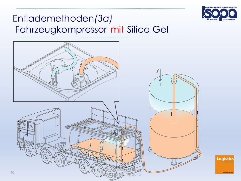 ISOPA Driver Training Program Ueberarbeitung 2015 40 Entlademethoden(3a) Fahrzeugkompressor mit Silica Gel