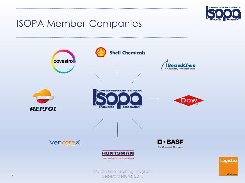 ISOPA Driver Training Program Ueberarbeitung 2015 5 ISOPA Member Companies