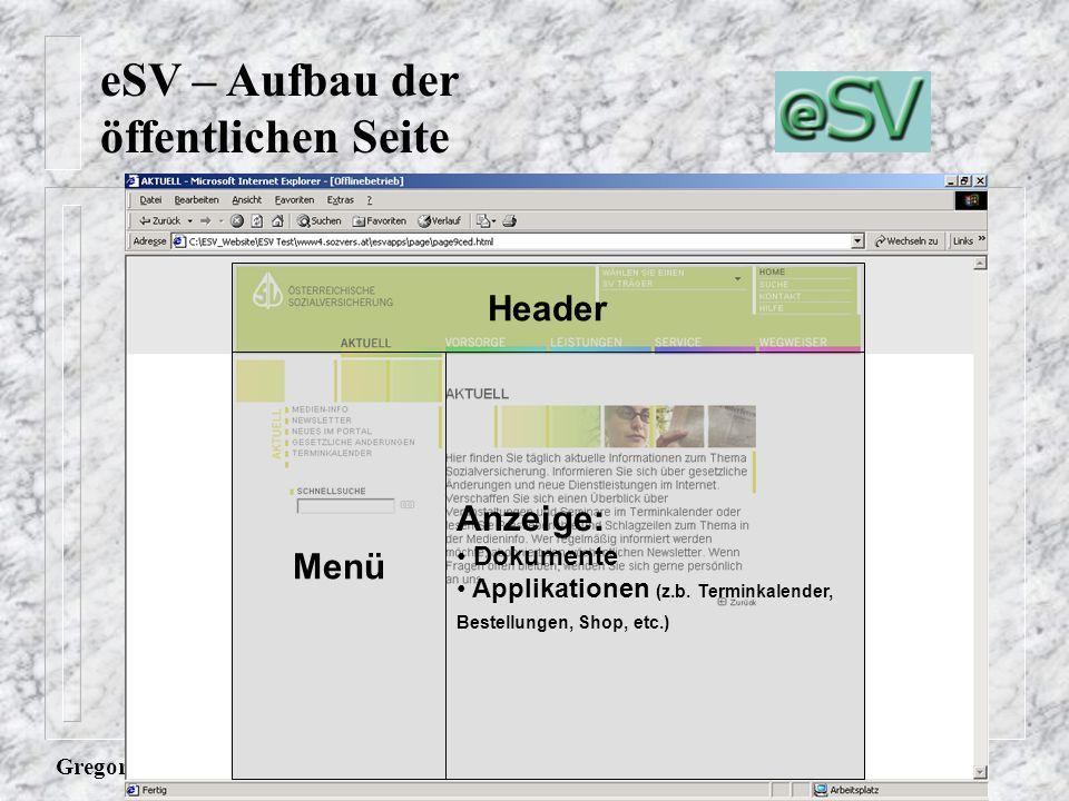 Gregor Graf Header Menü Anzeige: Dokumente Applikationen (z.b.