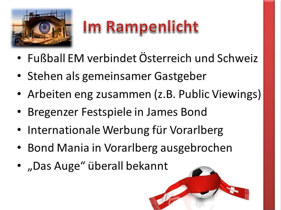Fußball EM verbindet Österreich und Schweiz Stehen als gemeinsamer Gastgeber Arbeiten eng zusammen (z.B.