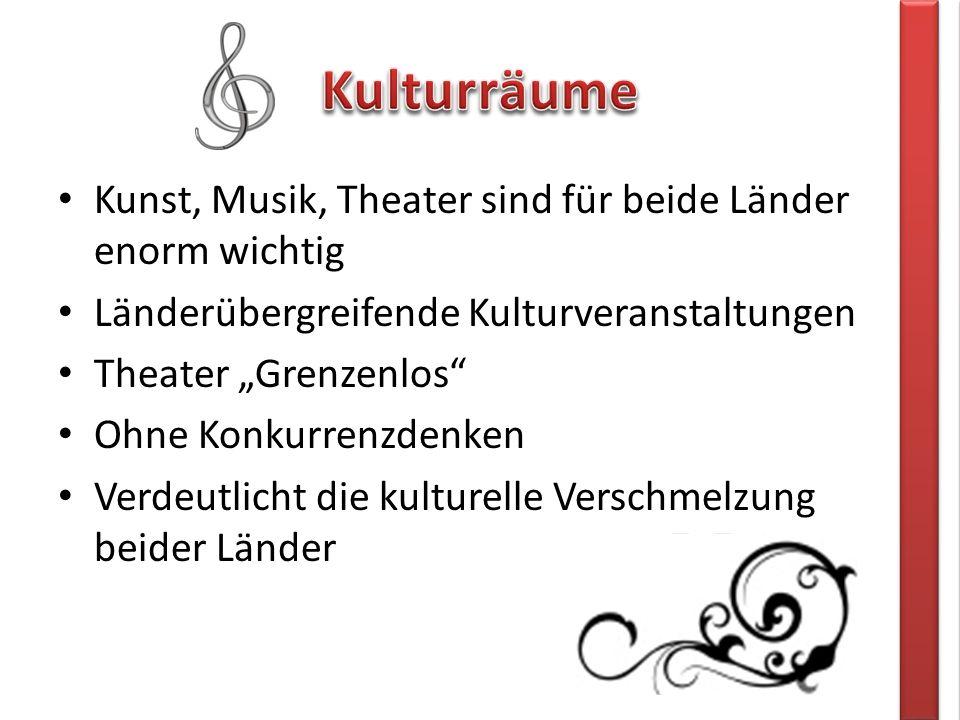 """Kunst, Musik, Theater sind für beide Länder enorm wichtig Länderübergreifende Kulturveranstaltungen Theater """"Grenzenlos Ohne Konkurrenzdenken Verdeutlicht die kulturelle Verschmelzung beider Länder"""