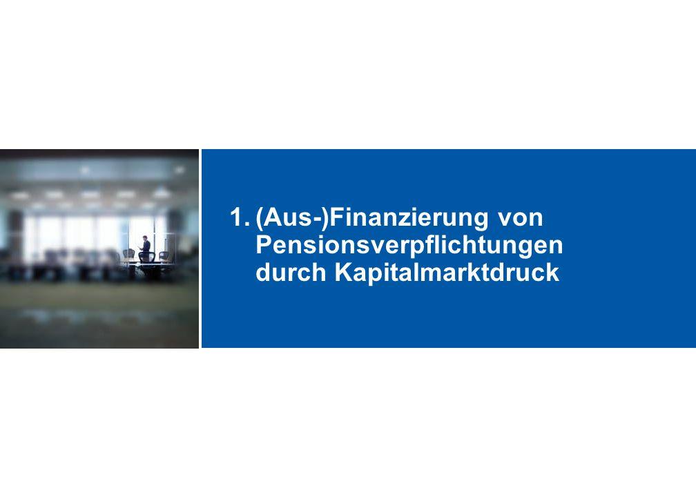 1.(Aus-)Finanzierung von Pensionsverpflichtungen durch Kapitalmarktdruck