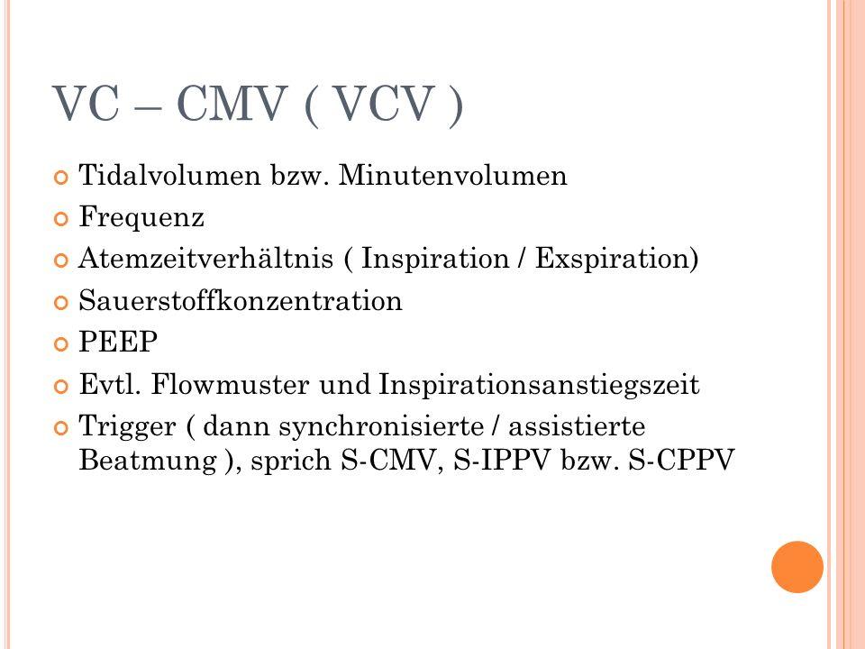 VC – CMV ( VCV ) Tidalvolumen bzw.