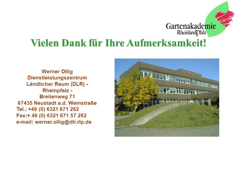 Werner Ollig Dienstleistungszentrum Ländlicher Raum (DLR) - Rheinpfalz - Breitenweg 71 67435 Neustadt a.d.