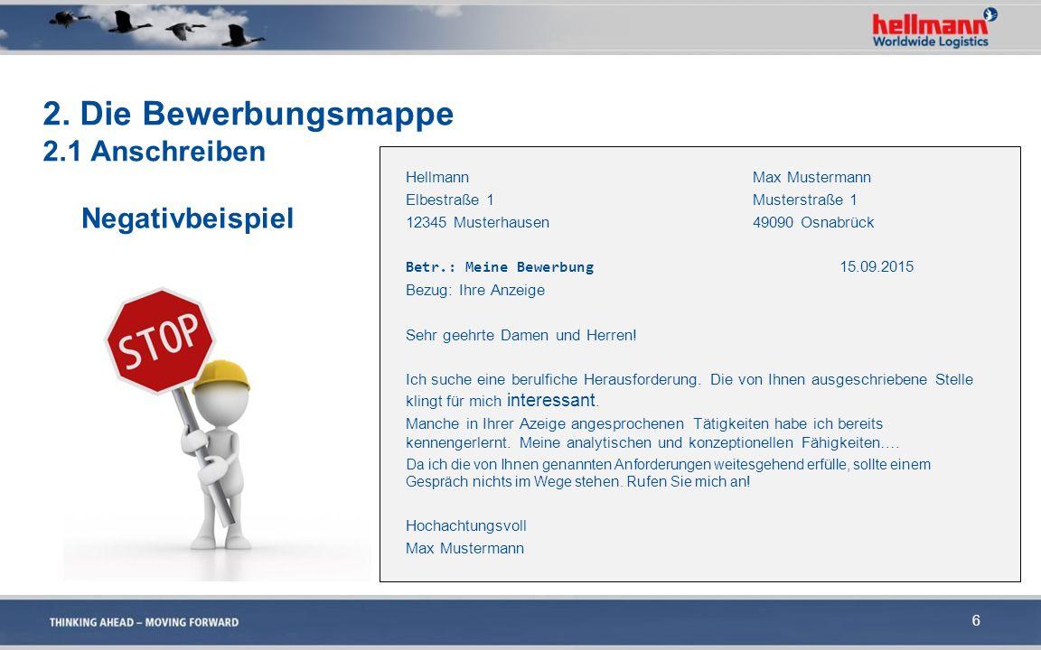 6 Hellmann Max Mustermann Elbestraße 1Musterstraße 1 12345 Musterhausen49090 Osnabrück Betr.: Meine Bewerbung 15.09.2015 Bezug: Ihre Anzeige Sehr geeh