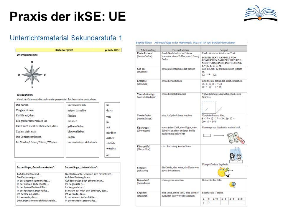 Praxis der ikSE: UE Unterrichtsmaterial Sekundarstufe 1