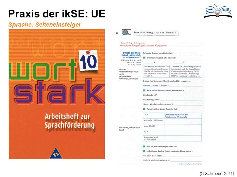 Praxis der ikSE: UE Sprache: Seiteneinsteiger (© Schroedel 2011)