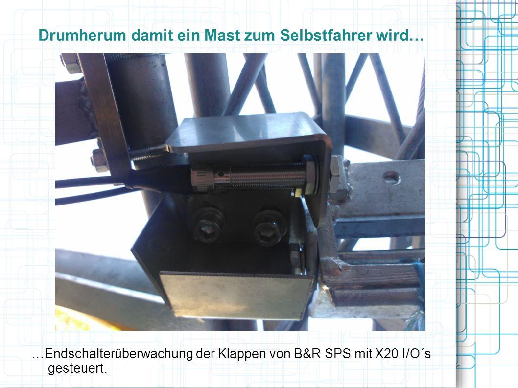 Drumherum damit ein Mast zum Selbstfahrer wird… …Endschalterüberwachung der Klappen von B&R SPS mit X20 I/O´s gesteuert.