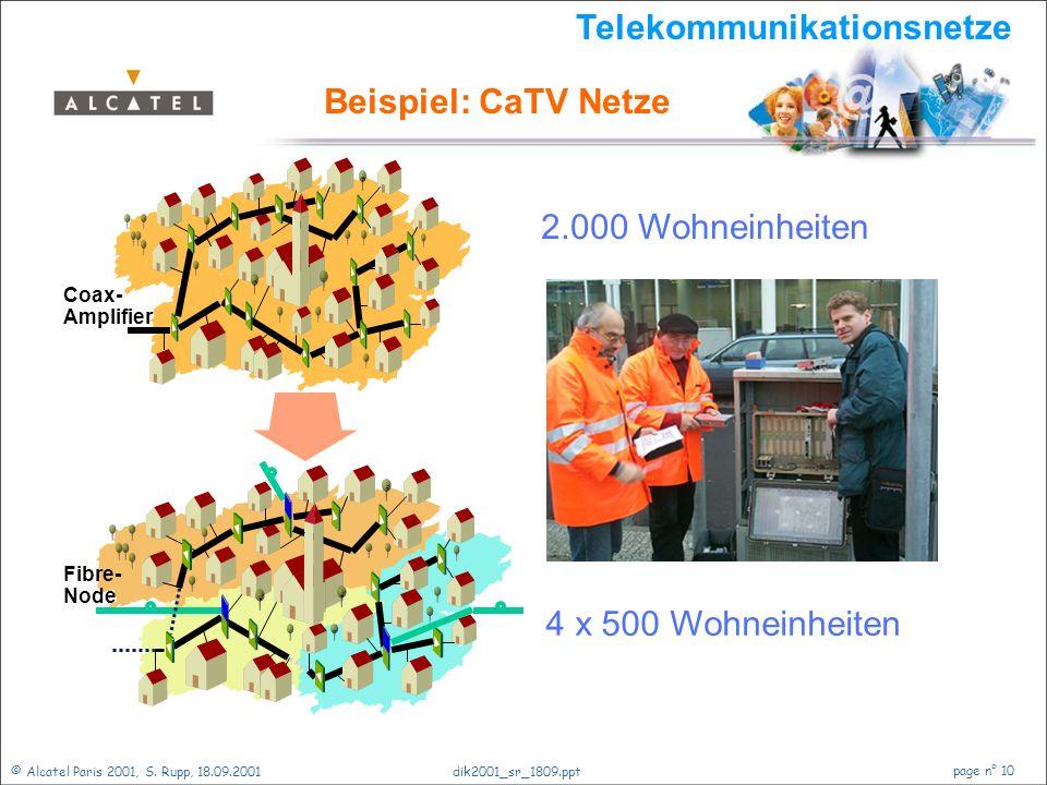 © Alcatel Paris 2001, S. Rupp, 18.09.2001 page n° 9 dik2001_sr_1809.ppt Von der Datenautobahn...... über den Nahverkehr....... bis ins Haus. MDF WLL D