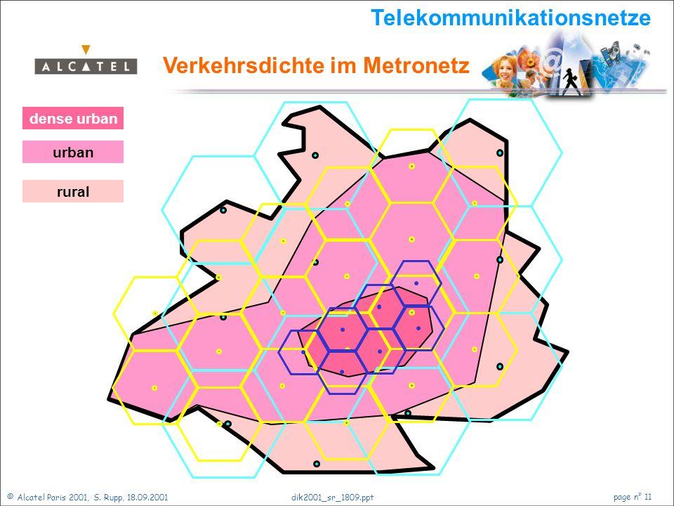 © Alcatel Paris 2001, S. Rupp, 18.09.2001 page n° 10 dik2001_sr_1809.ppt Coax- Amplifier 2.000 Wohneinheiten 4 x 500 Wohneinheiten Telekommunikationsn