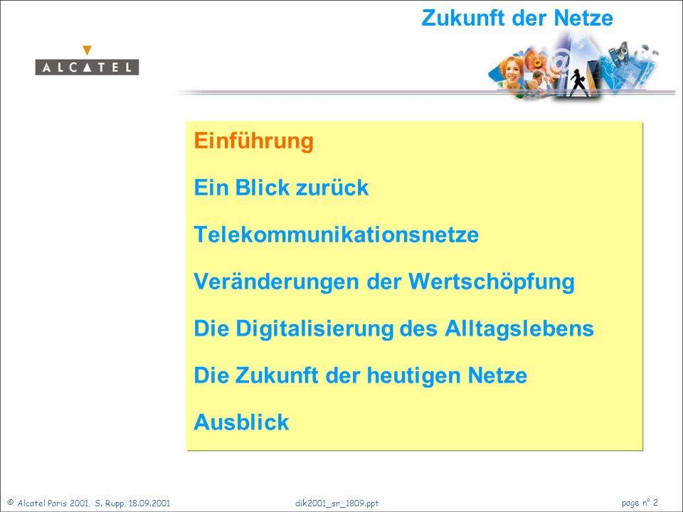 Die Zukunft der Netze - Was kommt, was bleibt? Dr. Stephan Rupp S.Rupp@alcatel.de