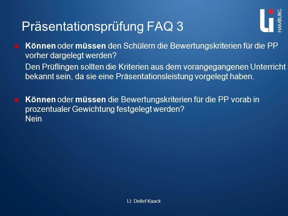 Präsentationsprüfung FAQ 3 Können oder müssen den Schülern die Bewertungskriterien für die PP vorher dargelegt werden? Den Prüflingen sollten die Krit