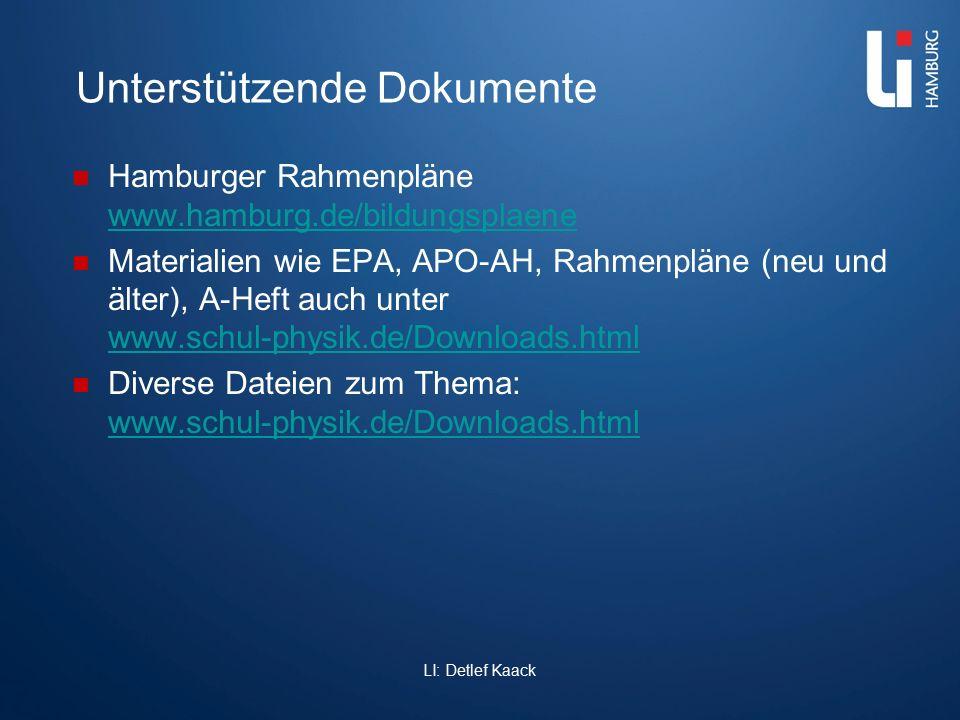 Unterstützende Dokumente Hamburger Rahmenpläne www.hamburg.de/bildungsplaene www.hamburg.de/bildungsplaene Materialien wie EPA, APO-AH, Rahmenpläne (n