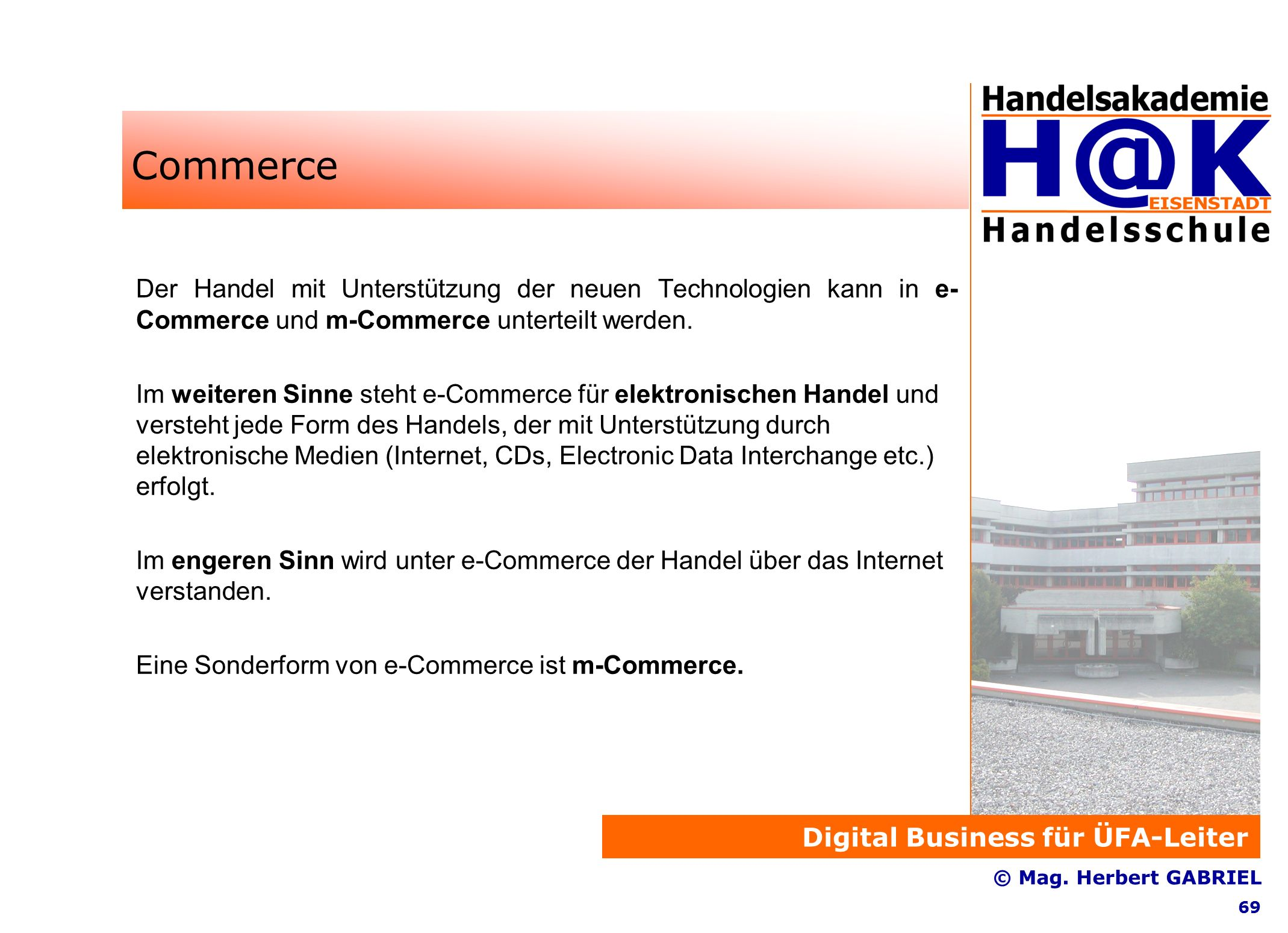 Digital Business für ÜFA-Leiter © Mag.