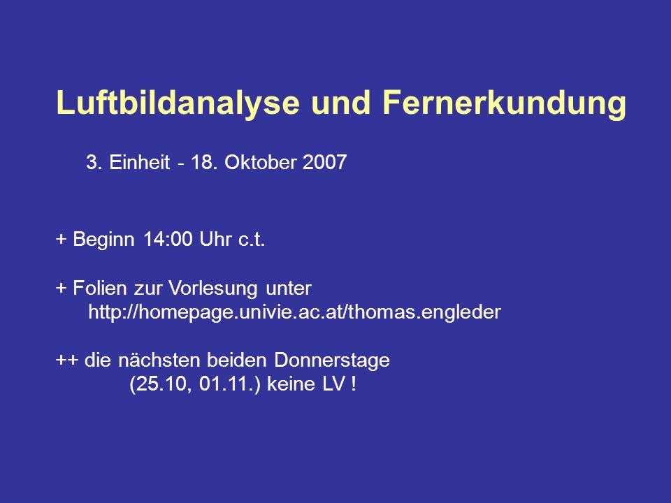 Luftbildanalyse und Fernerkundung 3. Einheit - 18.