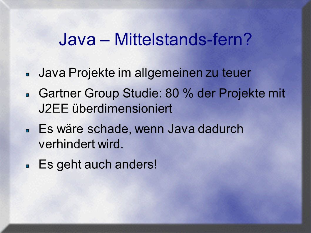 Java – Mittelstands-fern.