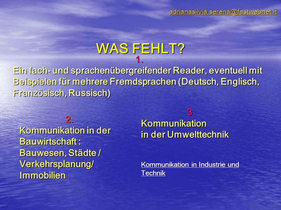 WAS FEHLT.2.