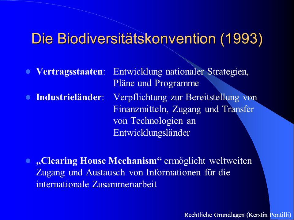 Der Ökosystemare Ansatz - die Umsetzungstrategie der Konvention: Strategie des integrierten Managements von Land, Wasser und lebenden Ressourcen zur Erhaltung und nachhaltigen Nutzung in einer gerechten Weise Mensch ist integraler Bestandteil von Ökosystemen, daher: ausgewogenes und faires Gleichgewicht zw.