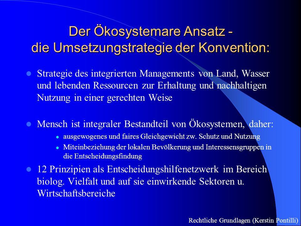 Die Umsetzung in Österreich(1) Ratifizierung 1994, Kundmachung 1995 als BGBl.
