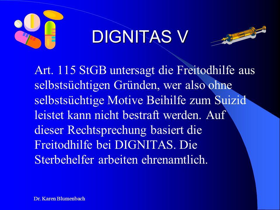 Dr.Karen Blumenbach DIGNITAS V Art.