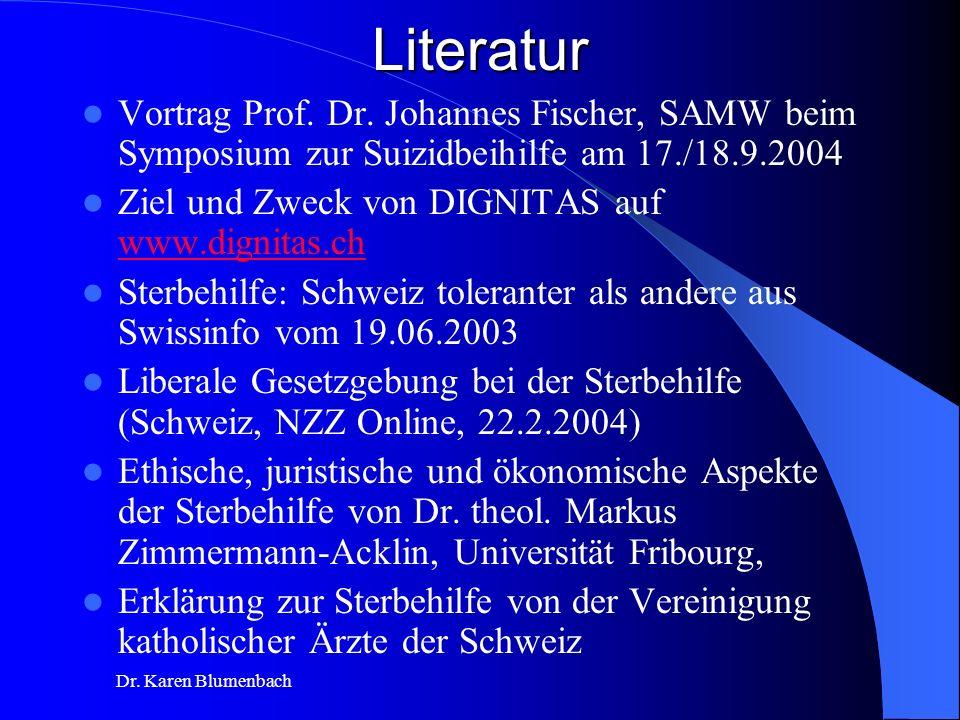 Dr.Karen BlumenbachLiteratur Vortrag Prof. Dr.