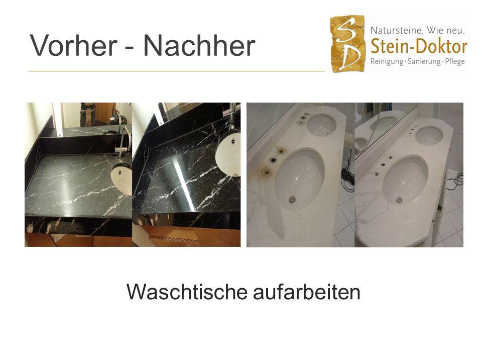 Vorher - Nachher Waschtische aufarbeiten