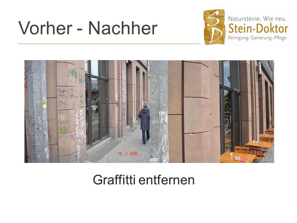 Vorher - Nachher Graffitti entfernen