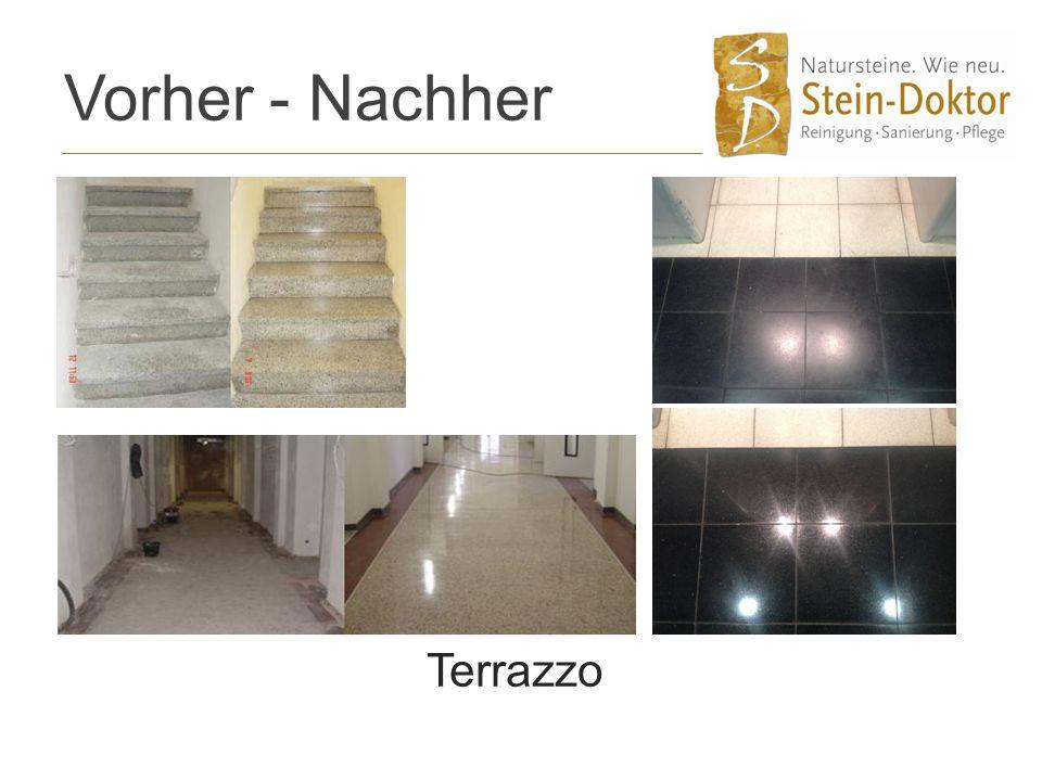Vorher - Nachher Terrazzo