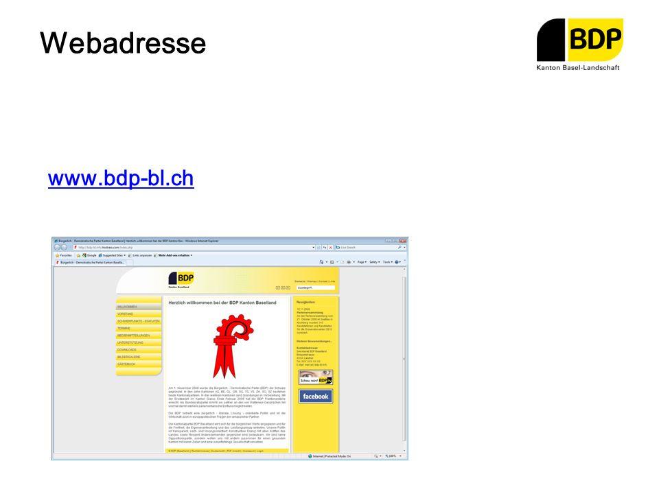 Webadresse www.bdp-bl.ch