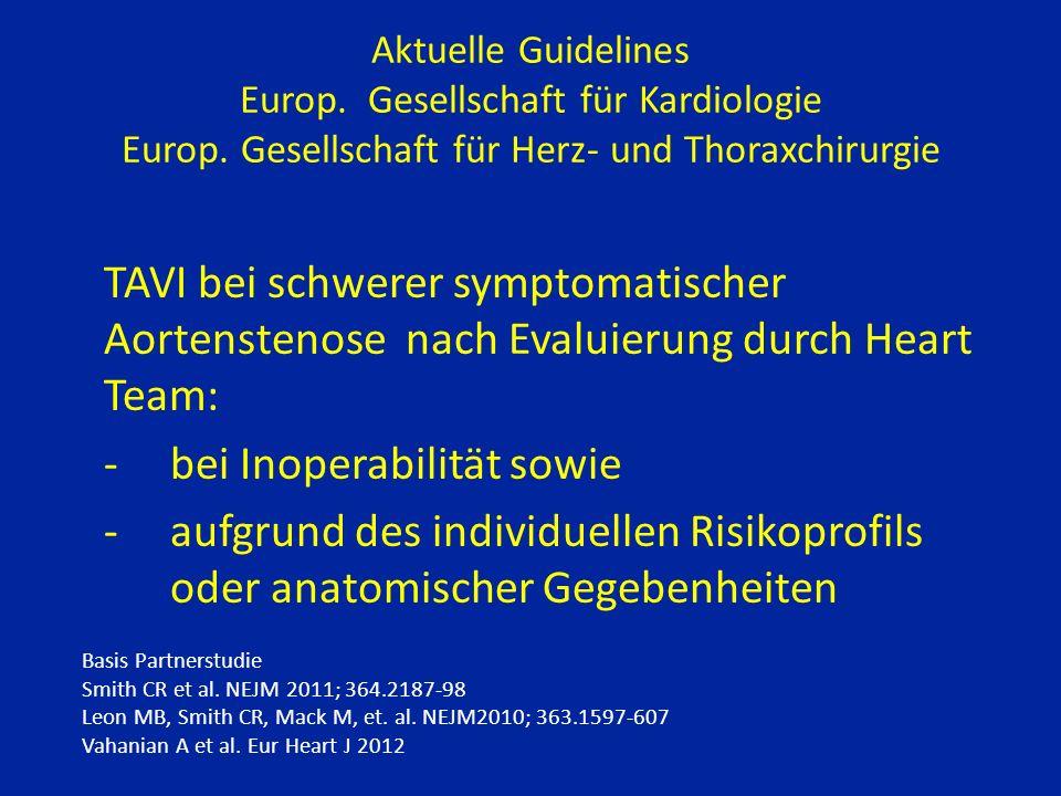 Aktuelle Guidelines Europ.Gesellschaft für Kardiologie Europ.