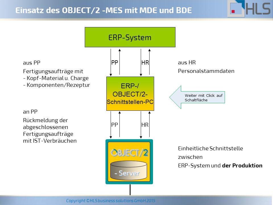 Copyright ©HLS business solutions GmbH 2015 In einer speziell konfigurierten und individuell anpassbaren Fahr-Datenbank werden die Maschinen-Programme und -Einstellparameter nach artikel- und maschinen-spezifischen Gesichtspunkten verwaltet.