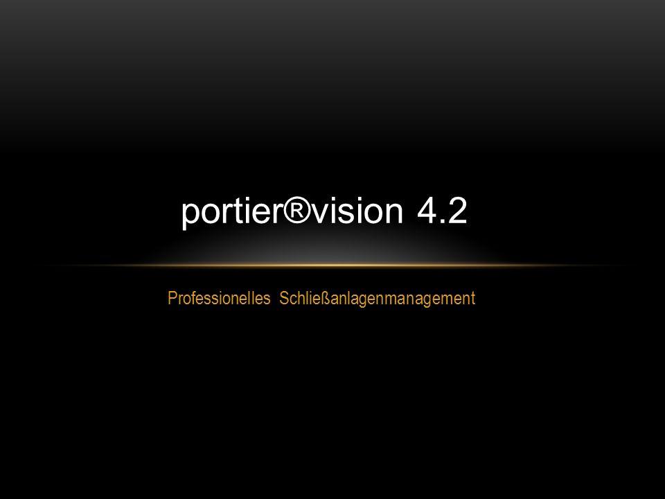 Professionelles Schließanlagenmanagement portier®vision 4.2