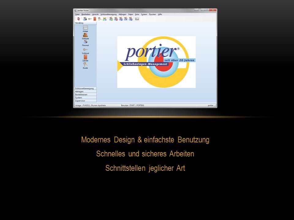 Modernes Design & einfachste Benutzung Schnelles und sicheres Arbeiten Schnittstellen jeglicher Art