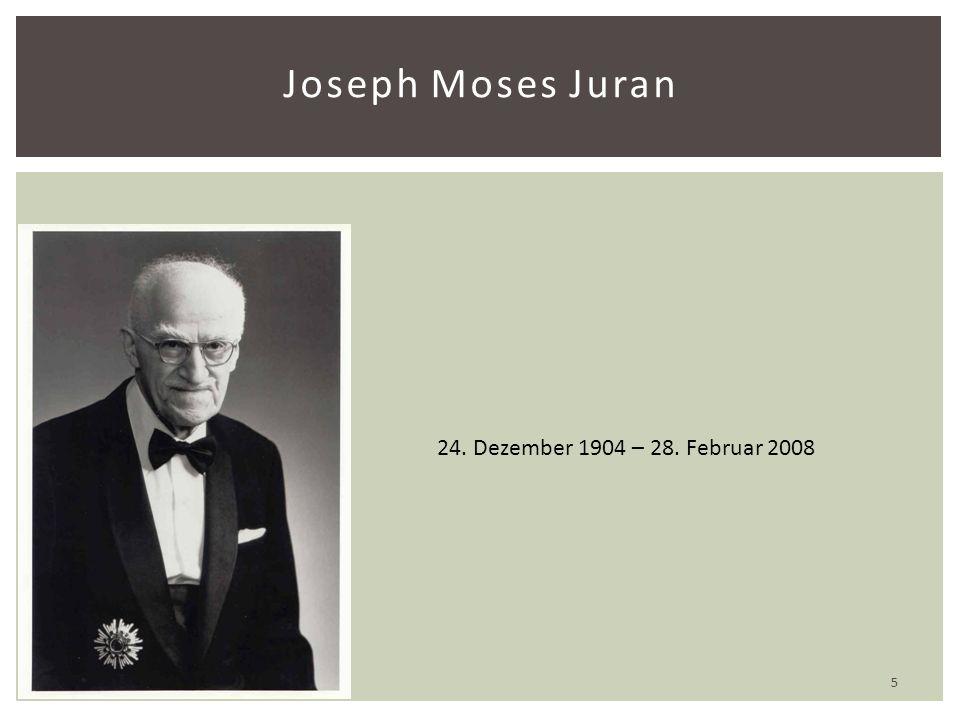 Joseph Moses Juran 24. Dezember 1904 – 28. Februar 2008 5