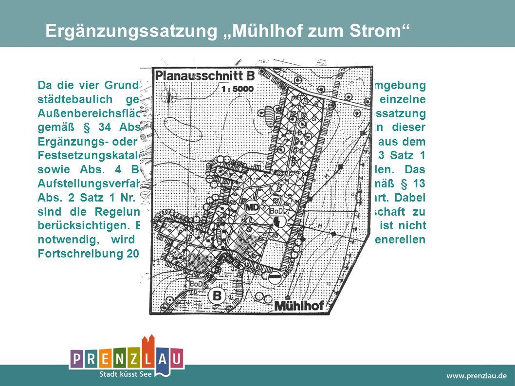 Da die vier Grundstücke durch die bauliche Nutzung der Umgebung städtebaulich geprägt sind und es sich um eine einzelne Außenbereichsfläche handelt, k