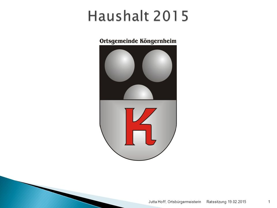 Ratssitzung 19.02.2015 Jutta Hoff, Ortsbürgermeisterin1