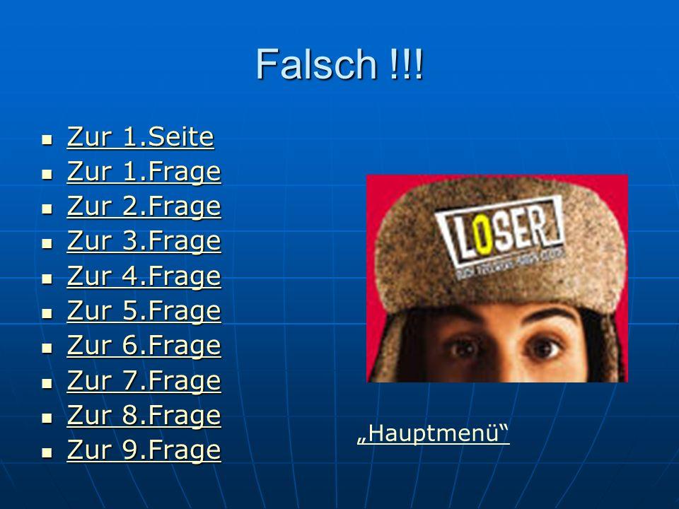Falsch !!.
