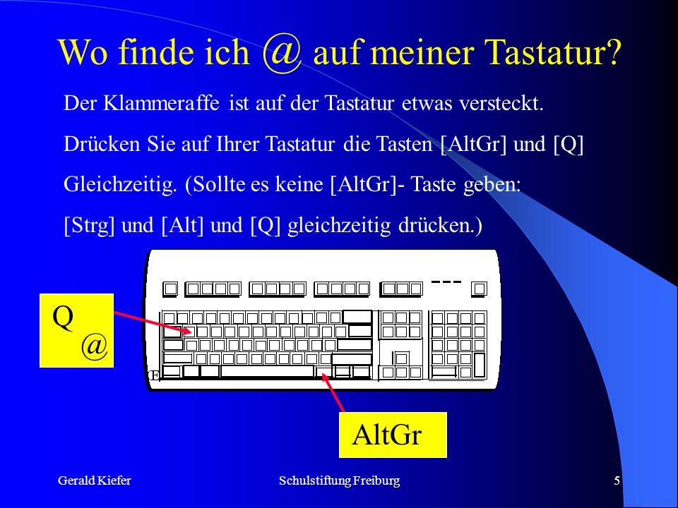 Gerald KieferSchulstiftung Freiburg6 Kostenlose Briefkästen Die Auswahl an kostenlosen Mail-Servern ist gigantisch.