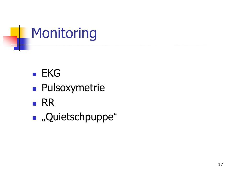 "17 Monitoring EKG Pulsoxymetrie RR ""Quietschpuppe """