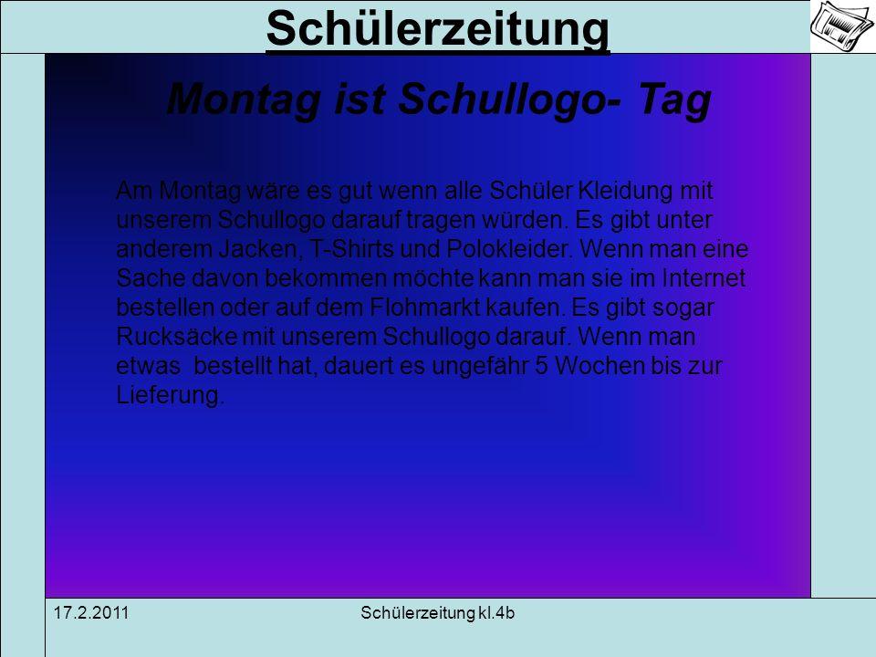 Schülerzeitung 17.2.2011Schülerzeitung kl.4b Moni = Matheolympiade Niedersachsen Die Matheolympiade wird in ganz Niedersachsen geschrieben.